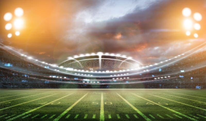 Stadion des amerikanischen Fußballs 3D lizenzfreie stockfotos