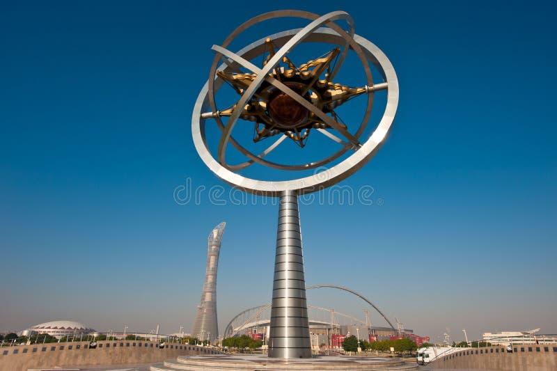 Stadion Doha-Khalifa lizenzfreie stockbilder