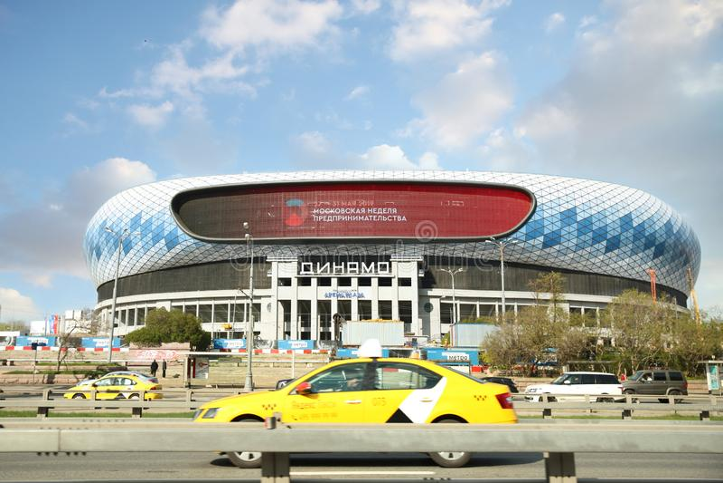 Stadion` Dynamo ` Het arena-centrale stadion ?Dynamo ??van VTB die na Lev Yashin ?wordt genoemd moskou royalty-vrije stock foto's