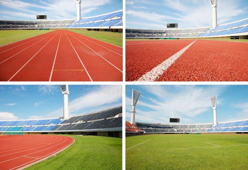 Stadion en rasspoor stock illustratie