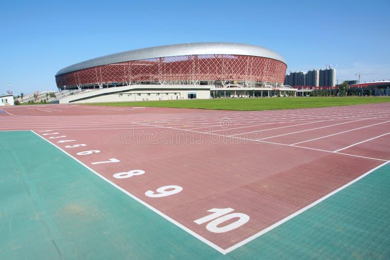 Stadion en speelplaats stock afbeelding