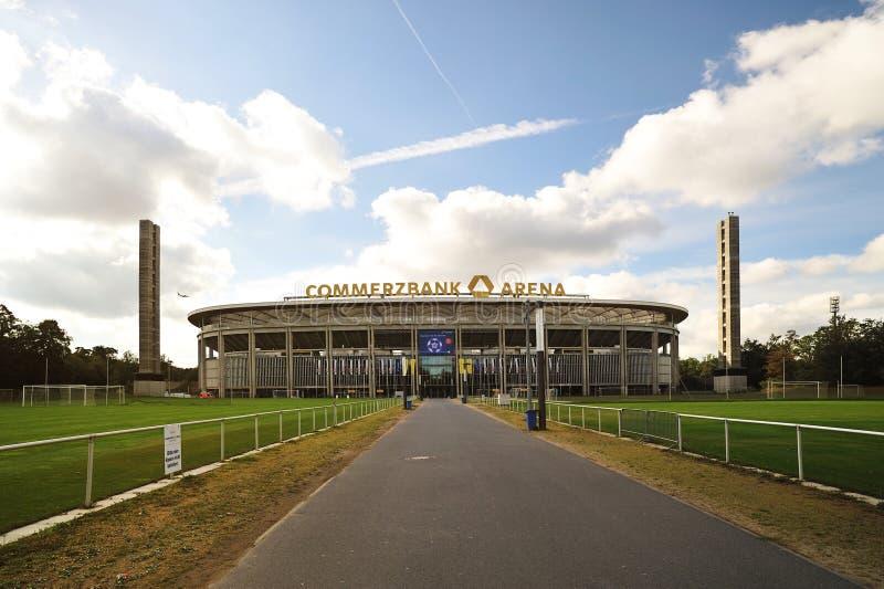 stadion för arenacommerzbank frankfurt fotboll arkivfoto