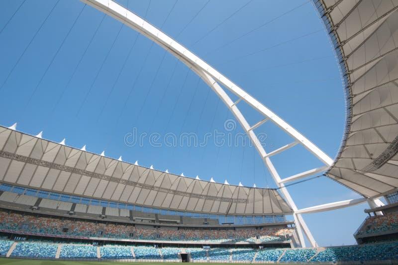 stadion för durban mabhidamoses fotboll arkivbilder