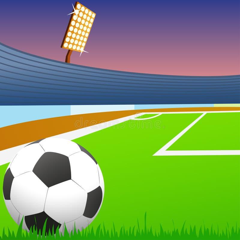 stadion för fotboll för green för bollfält vektor illustrationer