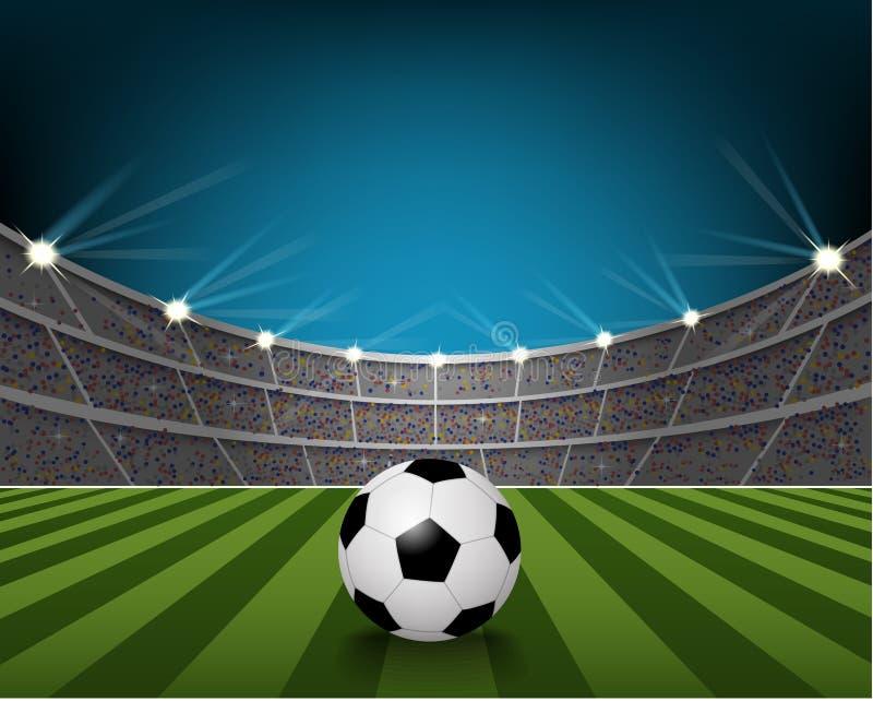 stadion för fotboll för lampa för bollfält vektor illustrationer