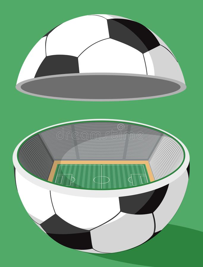 Stadion för fotbollboll royaltyfri illustrationer