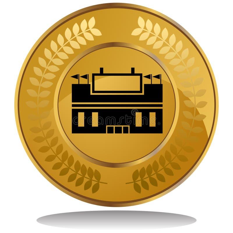 stadion för myntguld royaltyfri illustrationer