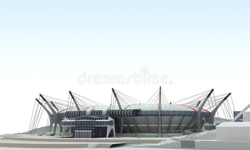stadion för projekt 3d vektor illustrationer