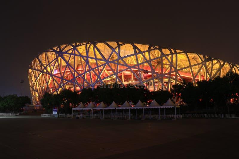 stadion för rede för beijing fågel nationell royaltyfri fotografi