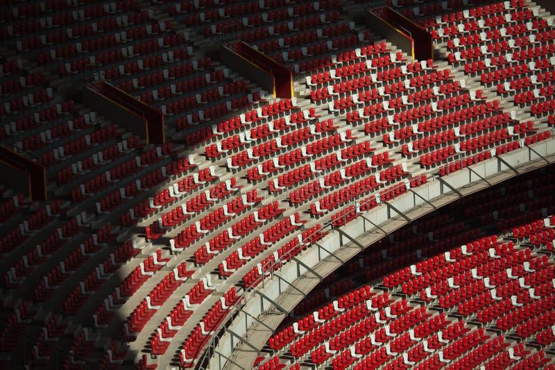 stadion för rede s för fågel intern arkivbild