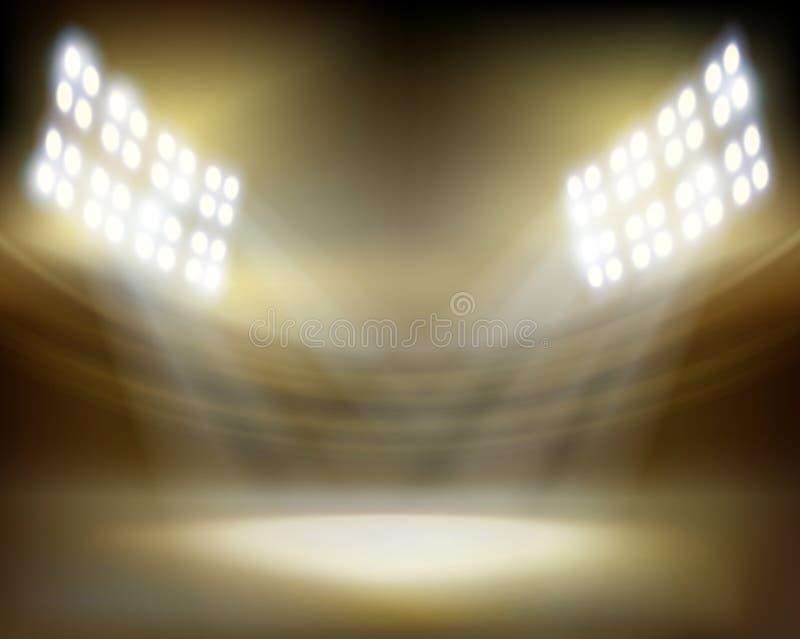 Stadion för showen också vektor för coreldrawillustration royaltyfri illustrationer