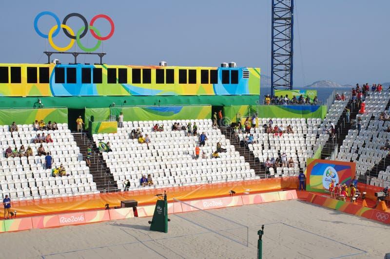 Stadion för strandvolleyboll royaltyfri foto