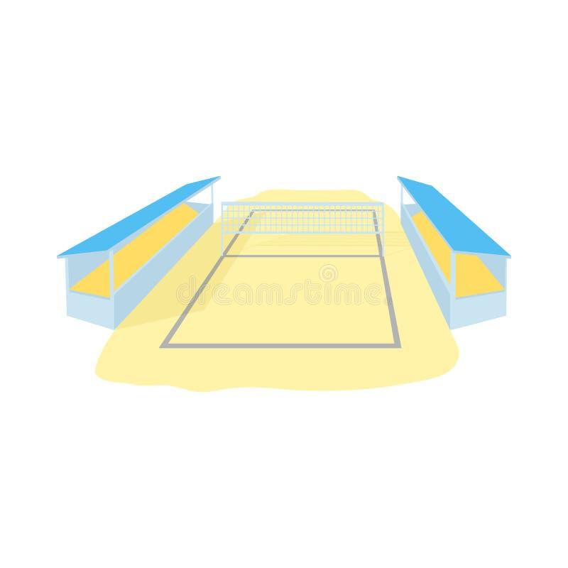 Stadion för volleybollsymbolen, tecknad filmstil vektor illustrationer