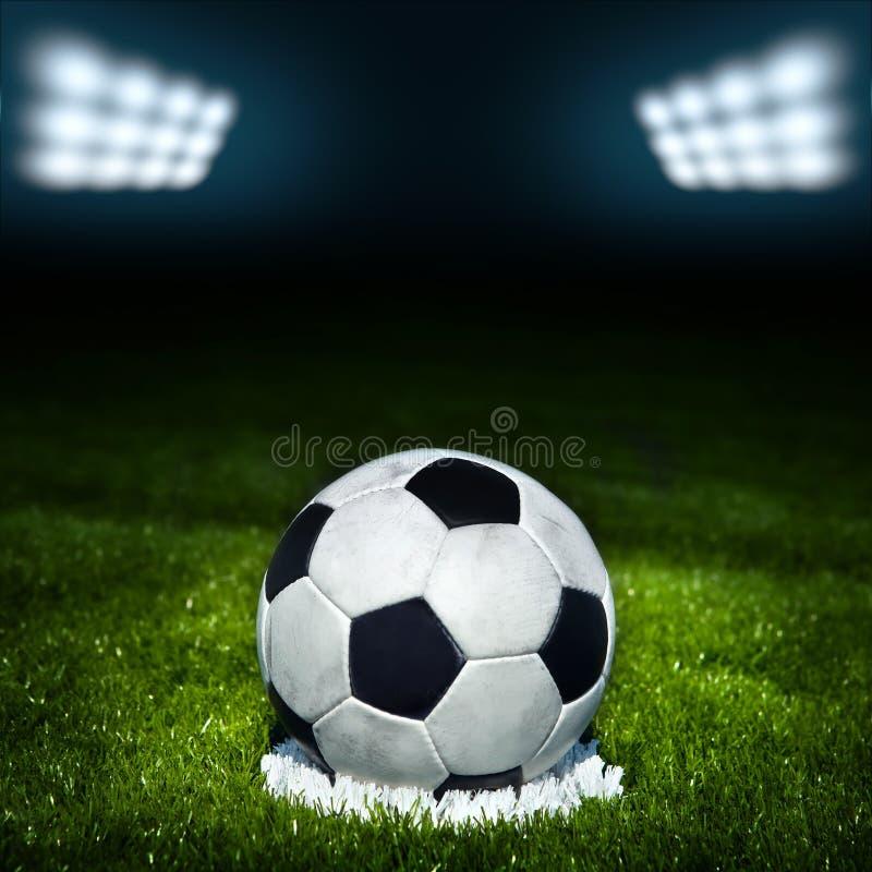 stadion för fotboll för lampa för bollfält royaltyfri foto