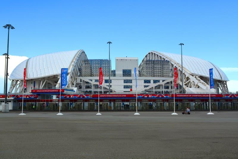 Stadion`-Fisht ` i den olympiska Sochien parkerar arkivfoto