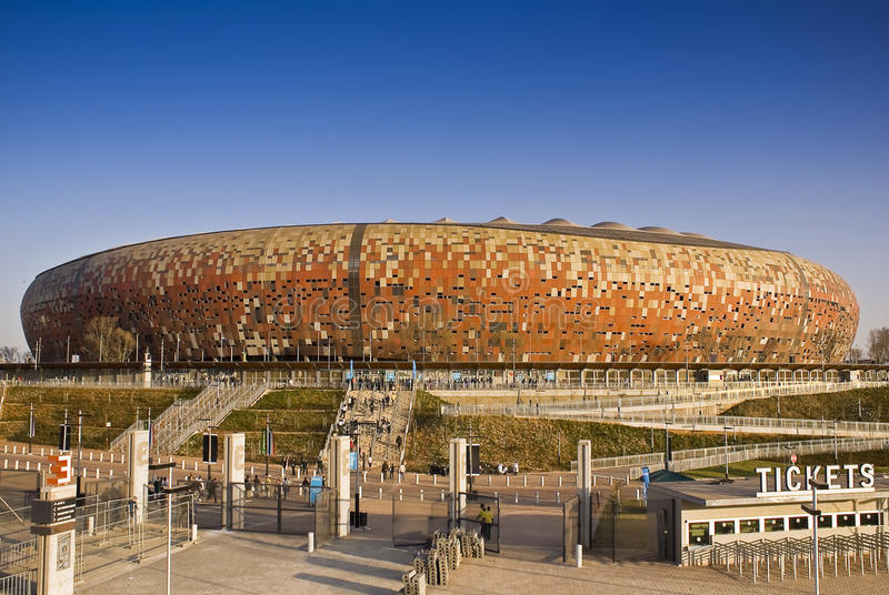 Stadion FNB - Nationaal Stadion (de Stad van het Voetbal) royalty-vrije stock fotografie