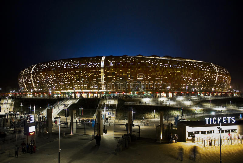 Stadion FNB - Nationaal Stadion (de Stad van het Voetbal) royalty-vrije stock foto's