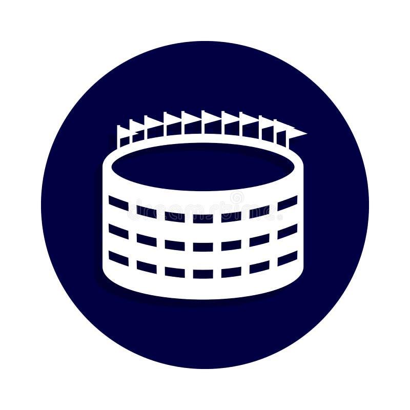 stadion futbolowy ikona w odznaka stylu Jeden futbol amerykański inkasowa ikona może używać dla UI, UX royalty ilustracja