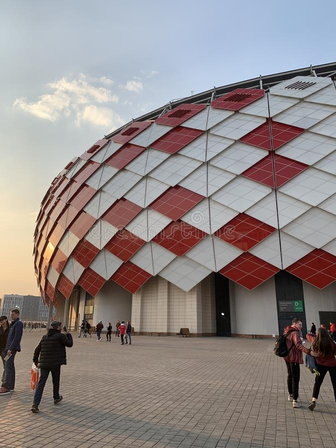 Stadion futbolowy Spartak obraz stock