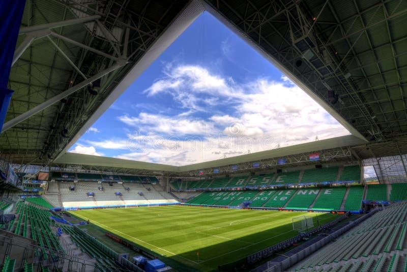 Stadion Geoffroy-Guichard in Saint-Etienne, Frankreich stockbilder