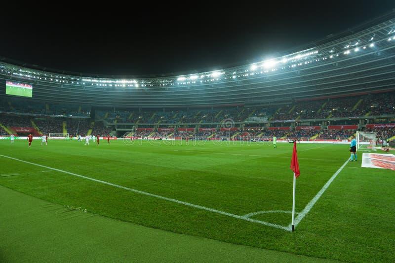 Stadion i Chorzow Polen royaltyfri fotografi