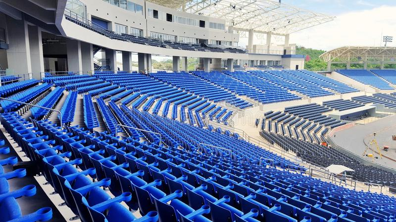 Stadion i konstruktion royaltyfria foton