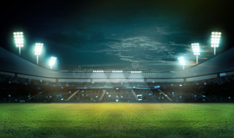 Stadion i ljus stock illustrationer