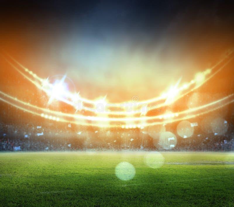 Stadion i ljus vektor illustrationer