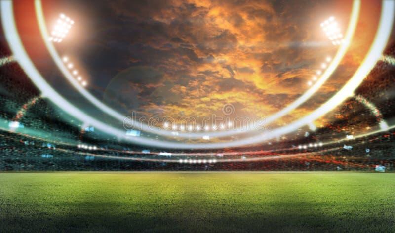 Stadion i ljus royaltyfri illustrationer