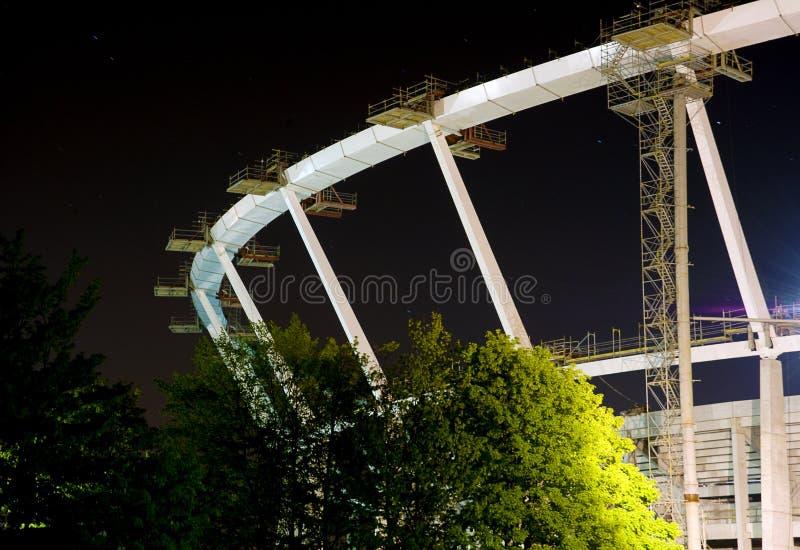 Stadion im Bau, Euro 2012, Polen lizenzfreie stockfotografie