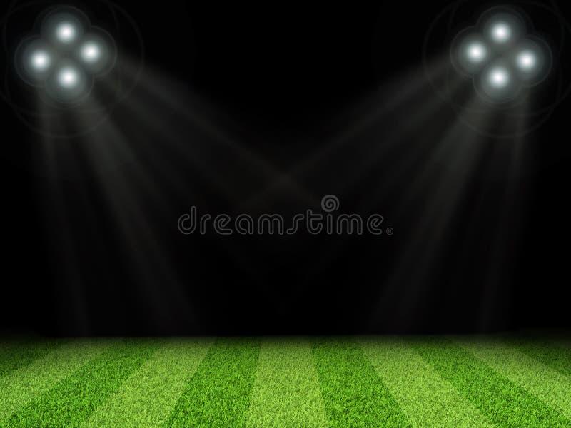 Stadion med ljusa ljus, utan att indexera royaltyfri illustrationer