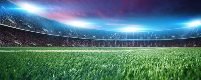Stadion met ventilators vóór de gelijke stock foto