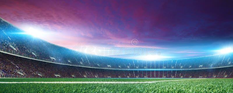 Stadion met ventilators vóór de gelijke royalty-vrije stock afbeelding