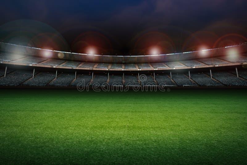 Stadion mit Fußballplatz lizenzfreies stockbild