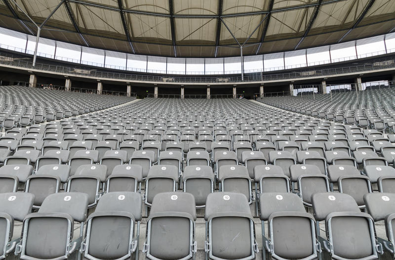 Stadion mit leerem Sitz stockfotografie