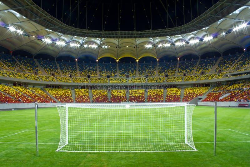 Stadion nachts stockfoto