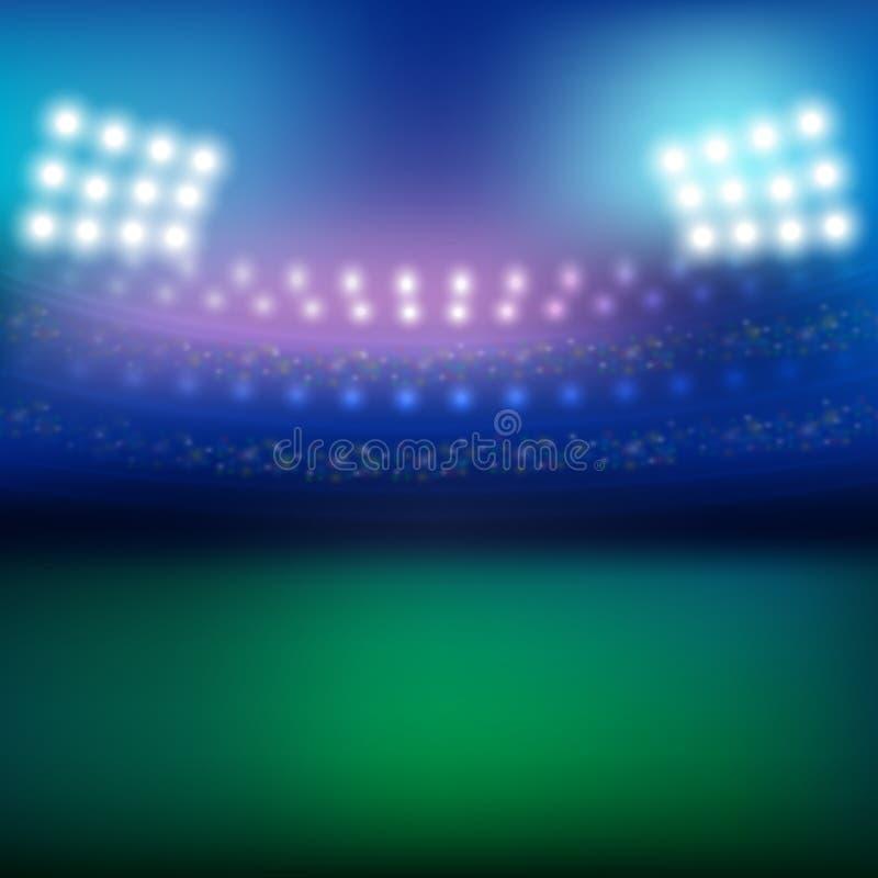 Stadion och ljusbakgrund royaltyfri illustrationer