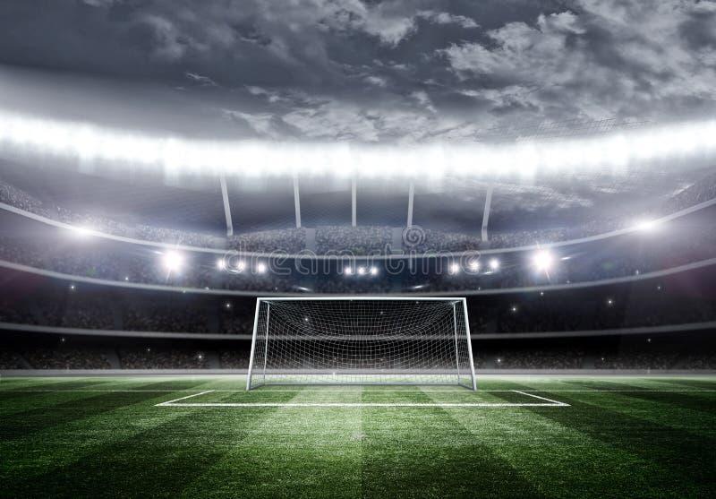Stadion på natten, 3d vektor illustrationer