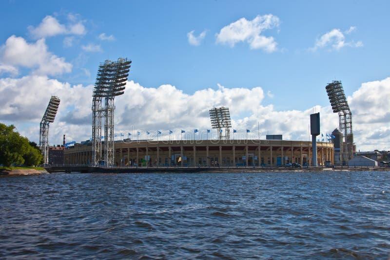 Stadion Petrovsky in St Petersburg stockfoto