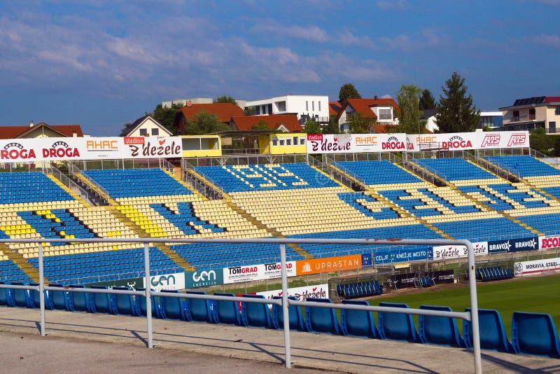 Stadion piłkarski, Celje, Słowenia zdjęcia stock