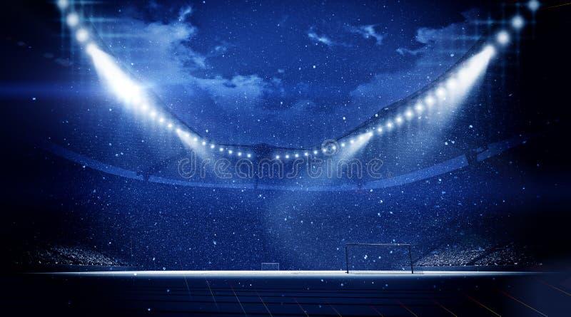 Stadion snöfall vektor illustrationer