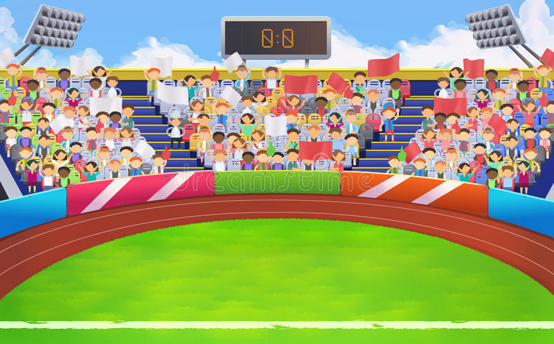 Stadion sportarena stock illustrationer