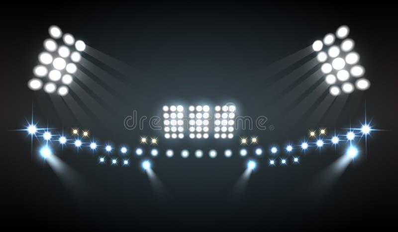 Stadion tänder sammansättning royaltyfri illustrationer