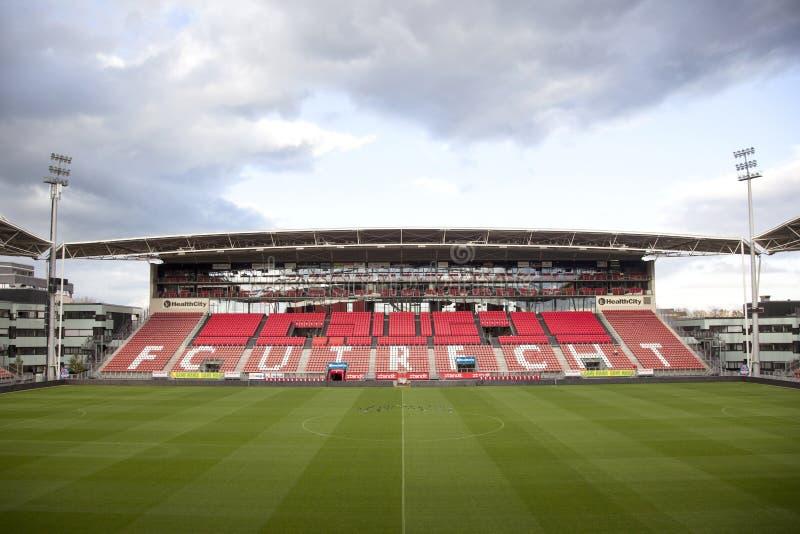 Stadion van voetbalclub fc Utrecht in Nederland stock afbeeldingen
