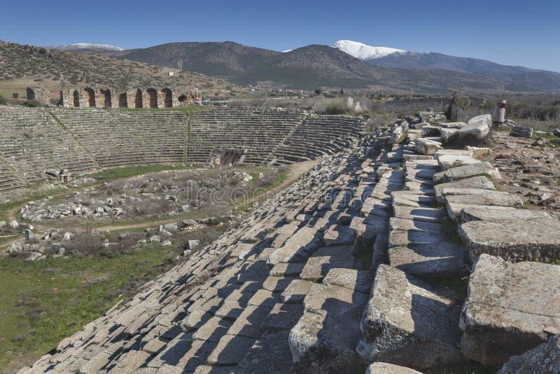 Stadion von Aphrodisias stockbilder