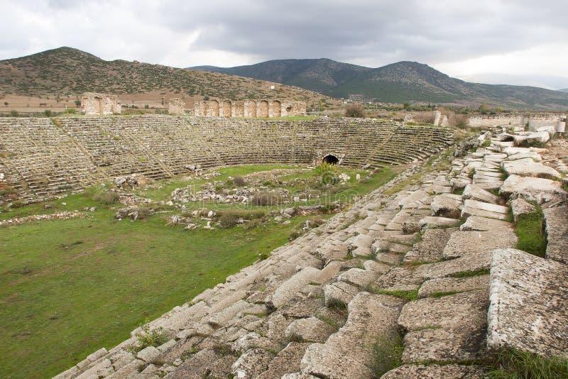 Stadion von Aphrodisias, Aydin, die Türkei stockbilder