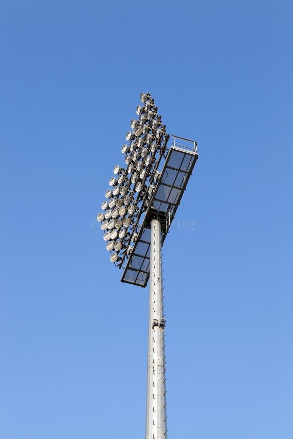 Stadionbelysningen royaltyfri foto