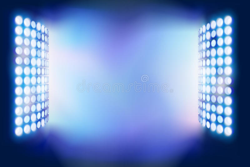 Stadionflodljus också vektor för coreldrawillustration royaltyfri illustrationer