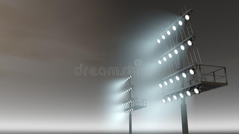 Stadionlicht royalty-vrije illustratie