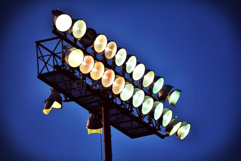 Stadionlichten het Opwarmen royalty-vrije stock fotografie